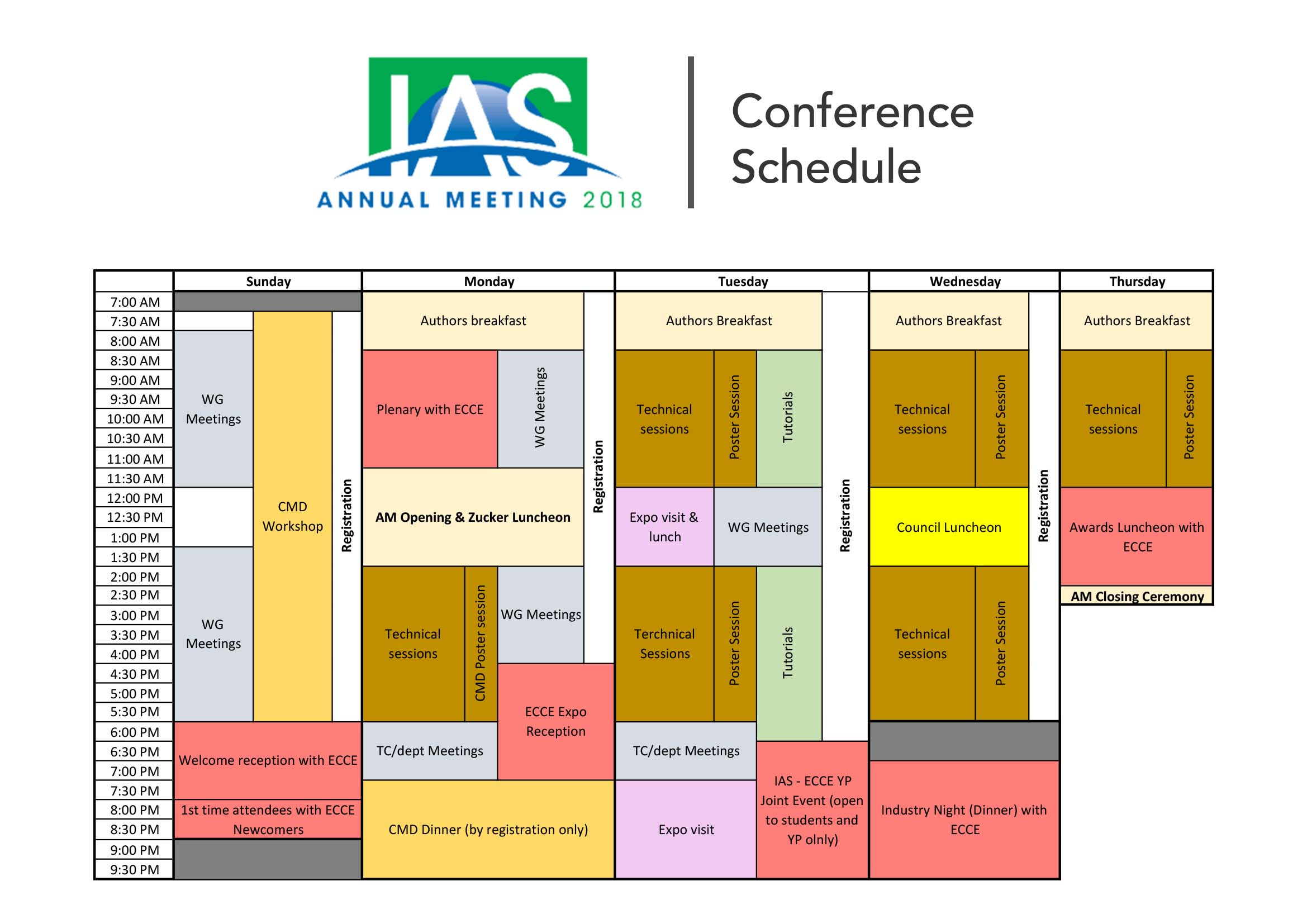 Schedule - IEEE Industry Applications Society