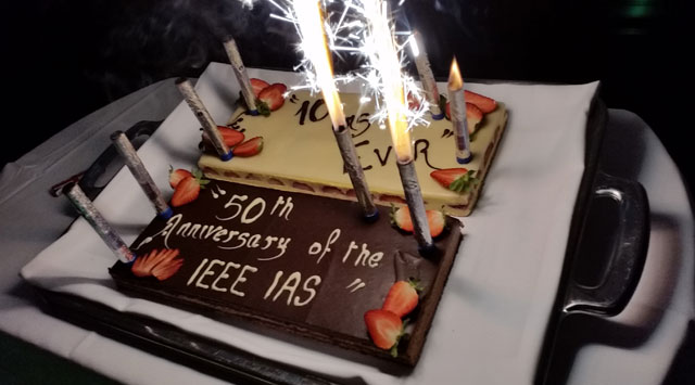 The IAS 50th anniversary celebration continues with a cake ceremony at the EVER 2015 conference at the Grimaldi Forum, Monaco, between Marc 31st - April 2nd 2015.