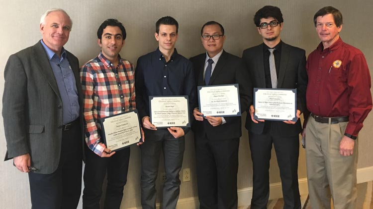 IEEE Electrical Safety Workshop Prevention Through Design student poster winners.